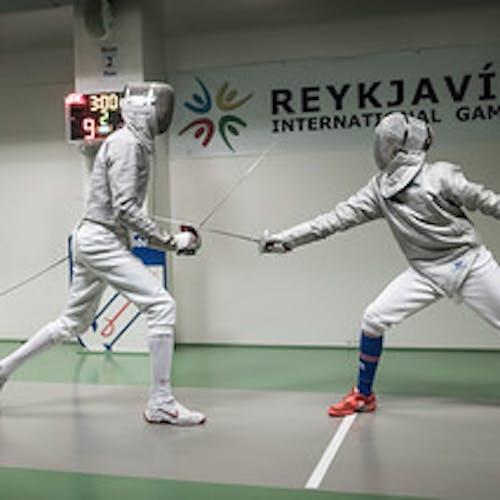 Keppendur í skylmingum á Reykjavik International Games