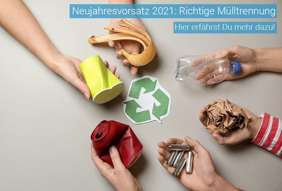 Mülltrennung Neujahresvorsatz