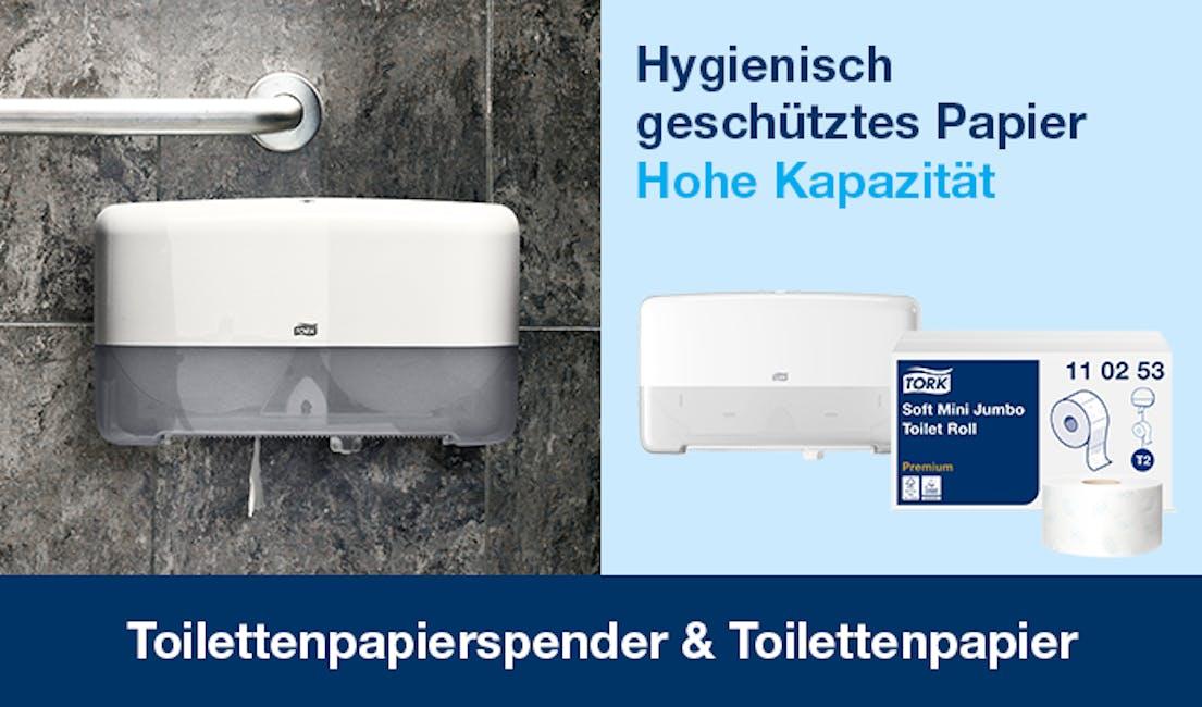 Die Kategorien Toilettenpapierspender & Toilettenpapier