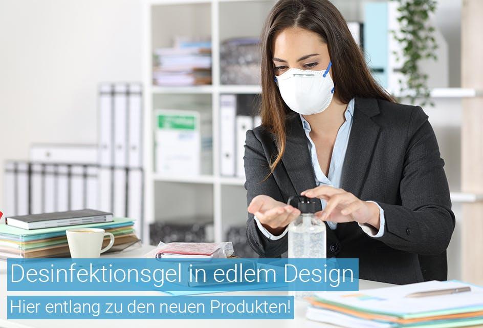 Desinfektionsgel in edlem Design