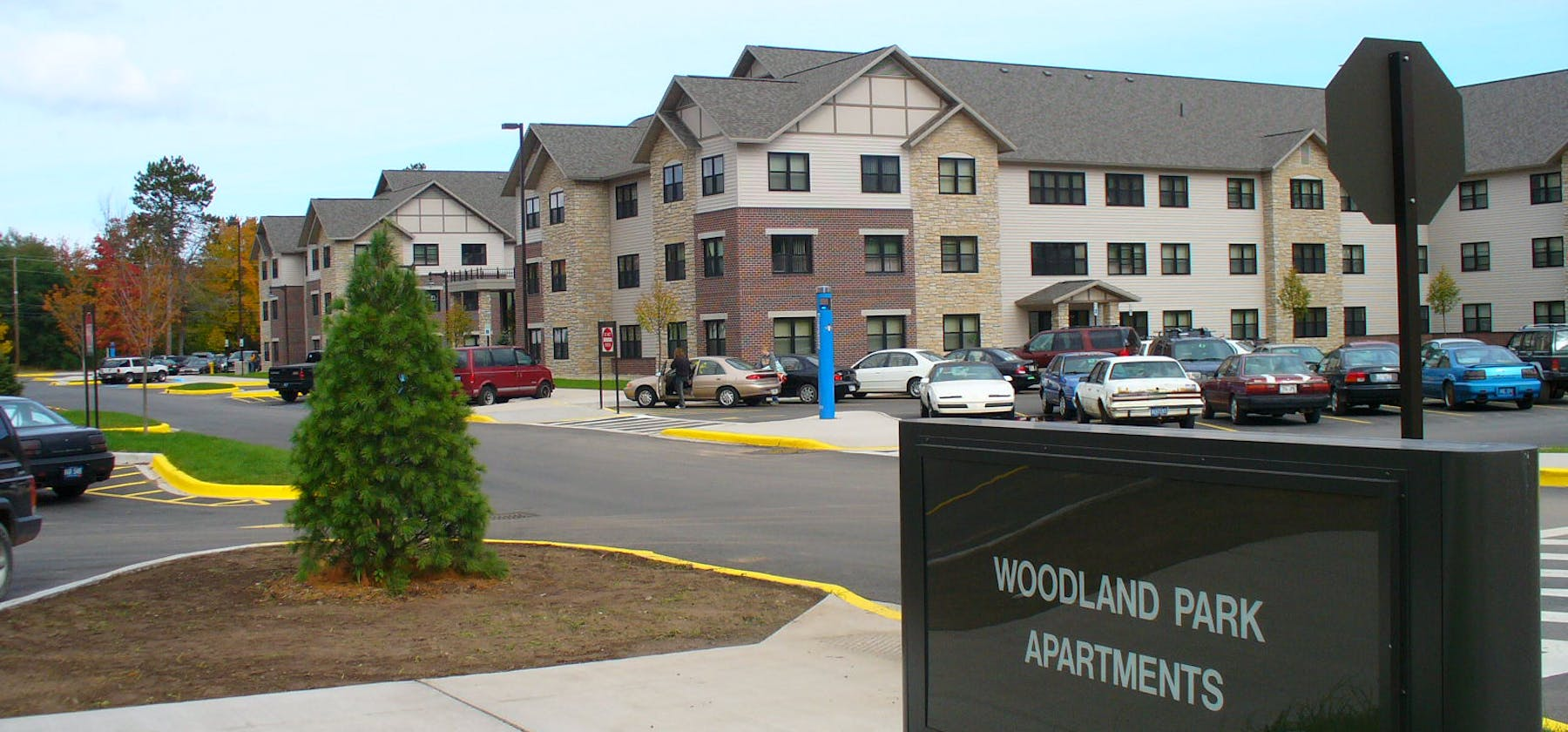 NMU Woodland Apartments facade