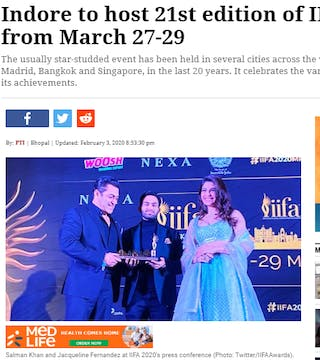 IIFA Awards goes to Indore for 21st edition