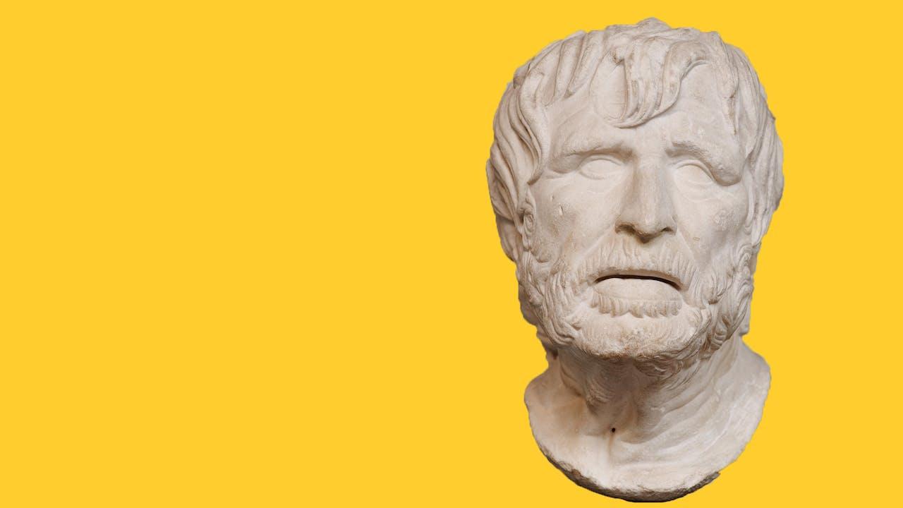 Un buste d'Hésiode, sculpté dans le marbre, actuellement conservé au British Museum de Londres.