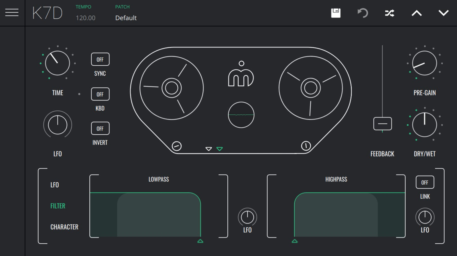 Overview of K7D - a versatile analogue sounding tape delay effect VST/AU plugin for Windows, MacOS X and iOS.