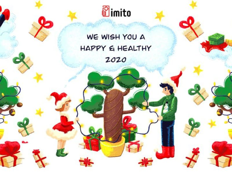 🎄 imito Wishes Happy Holidays 🤶🏽 and a Happy Start into the New Year 🎊