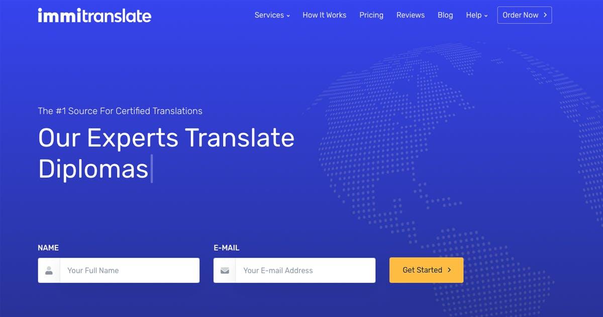 ImmiTranslate.com Homepage