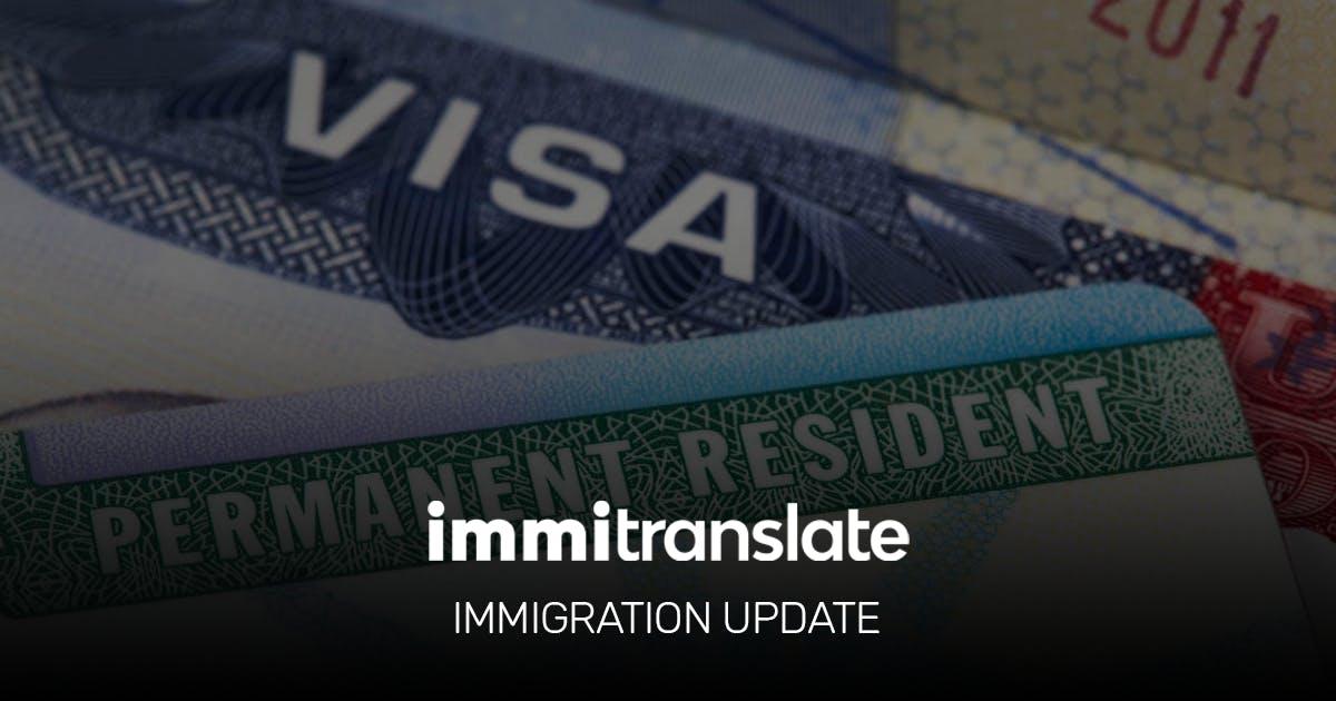 ImmiTranslate Immigration Update