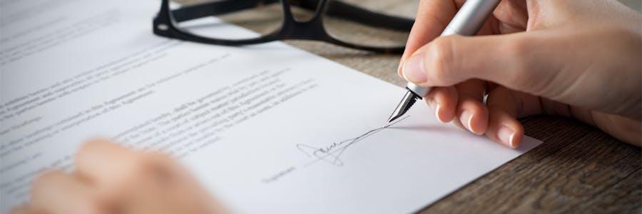 la signature de l'acte authentique
