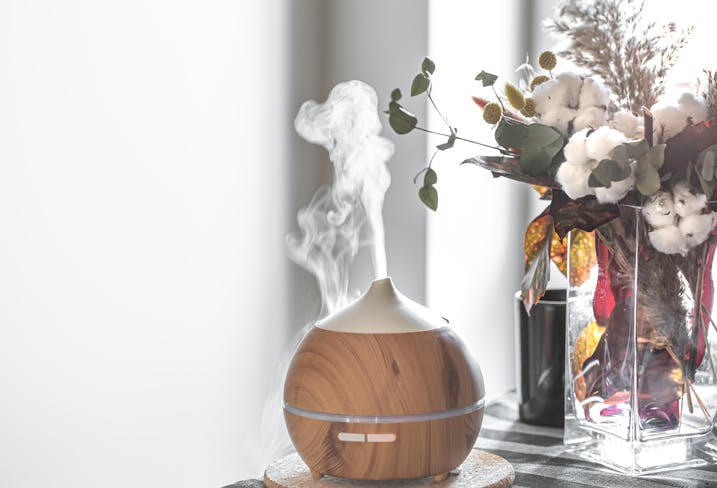 difusor de aromas para aromaterapia com cheiros da primavera