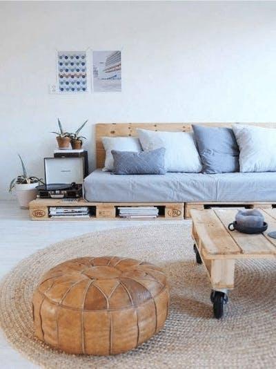sofa cama palete