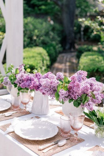 Mesa de Jantar Estilo Floral