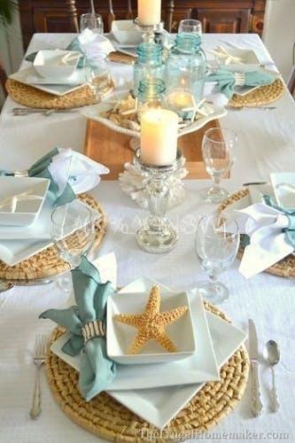 Mesa de Jantar Tema Mar