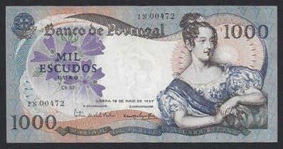 1000 escudos nota d.maria ii