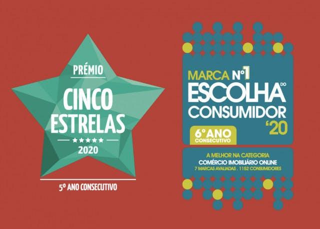 """Imovirtual vence prémios """"Cinco Estrelas"""" e """"Escolha do Consumidor"""" 2019"""