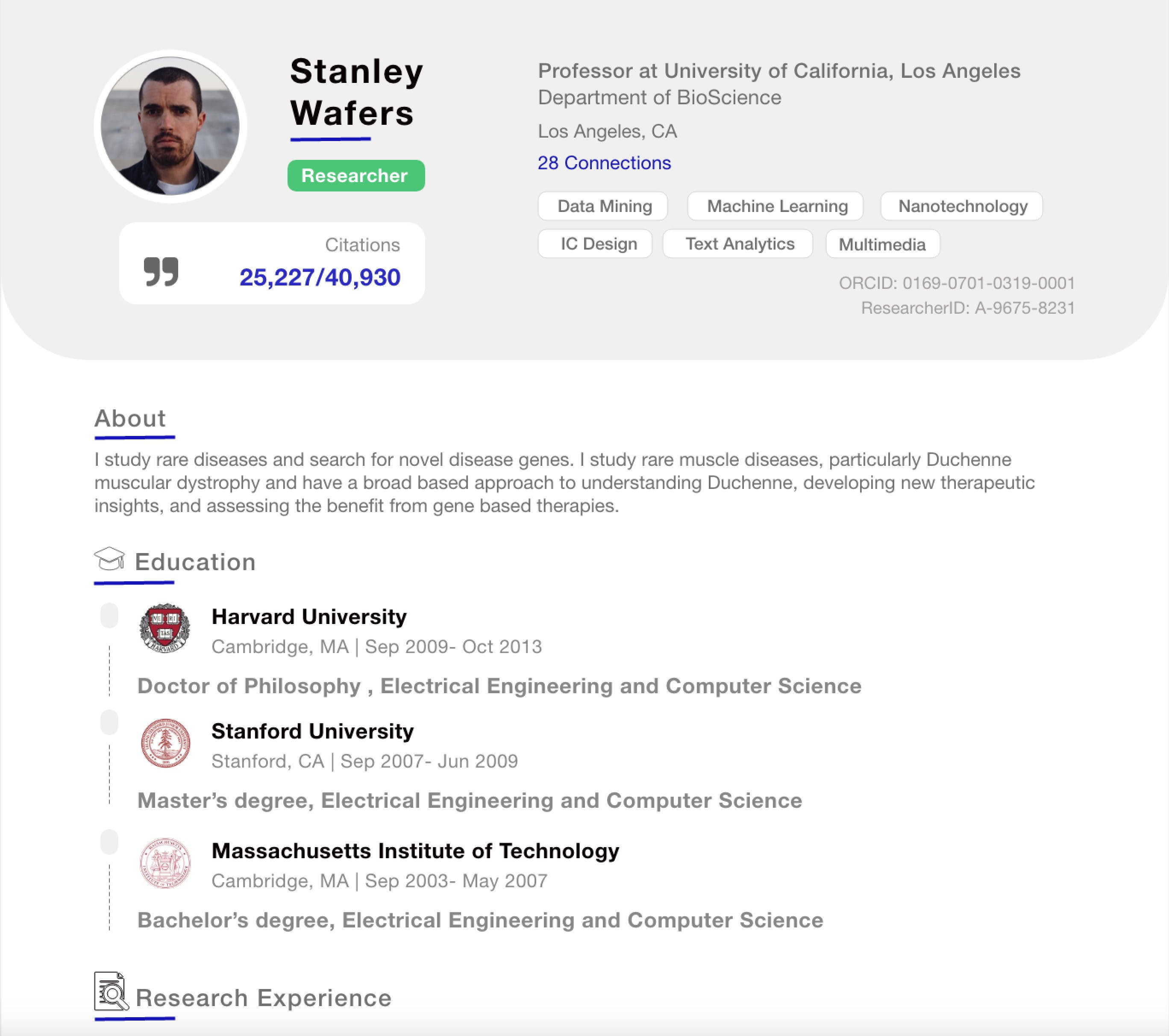 Build An Effective Academic Resume Academic Cv In Minutes