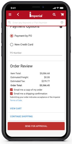Order Approval Buyer Mobile Screen Shot