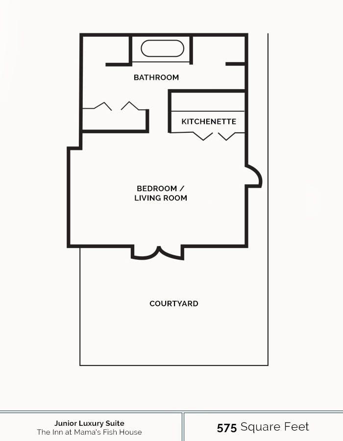 Floorplan for Junior Luxury Suite