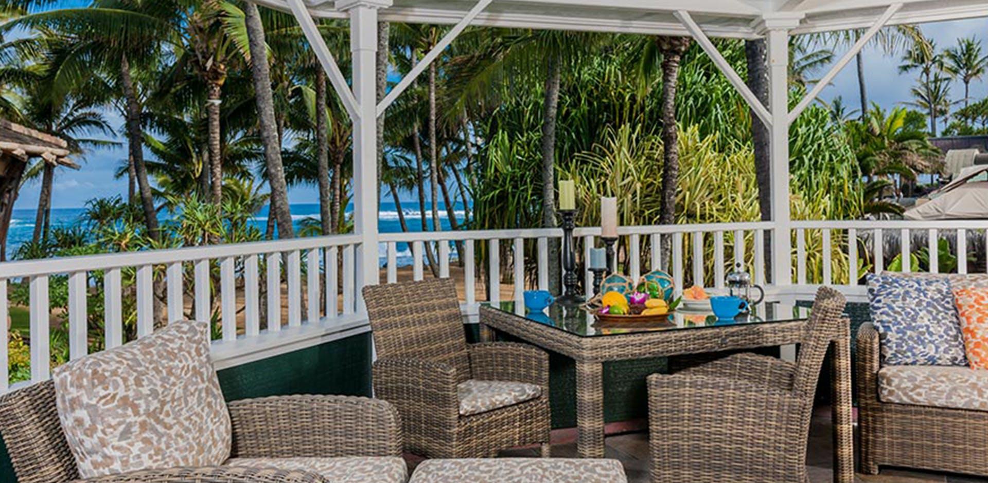 two-bedroom beachfront patio