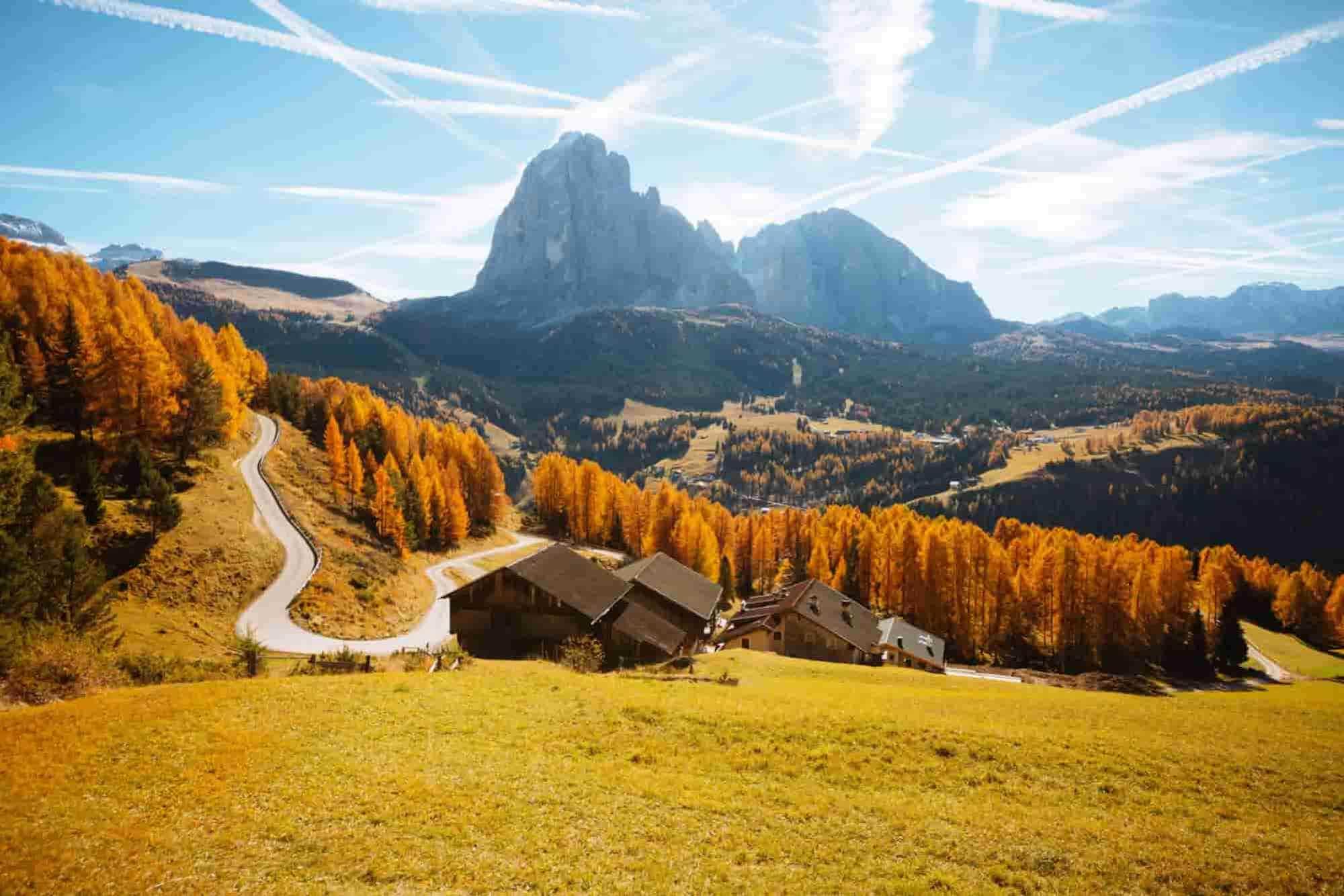 Landschaft eines Roadtrips durch die Schweiz