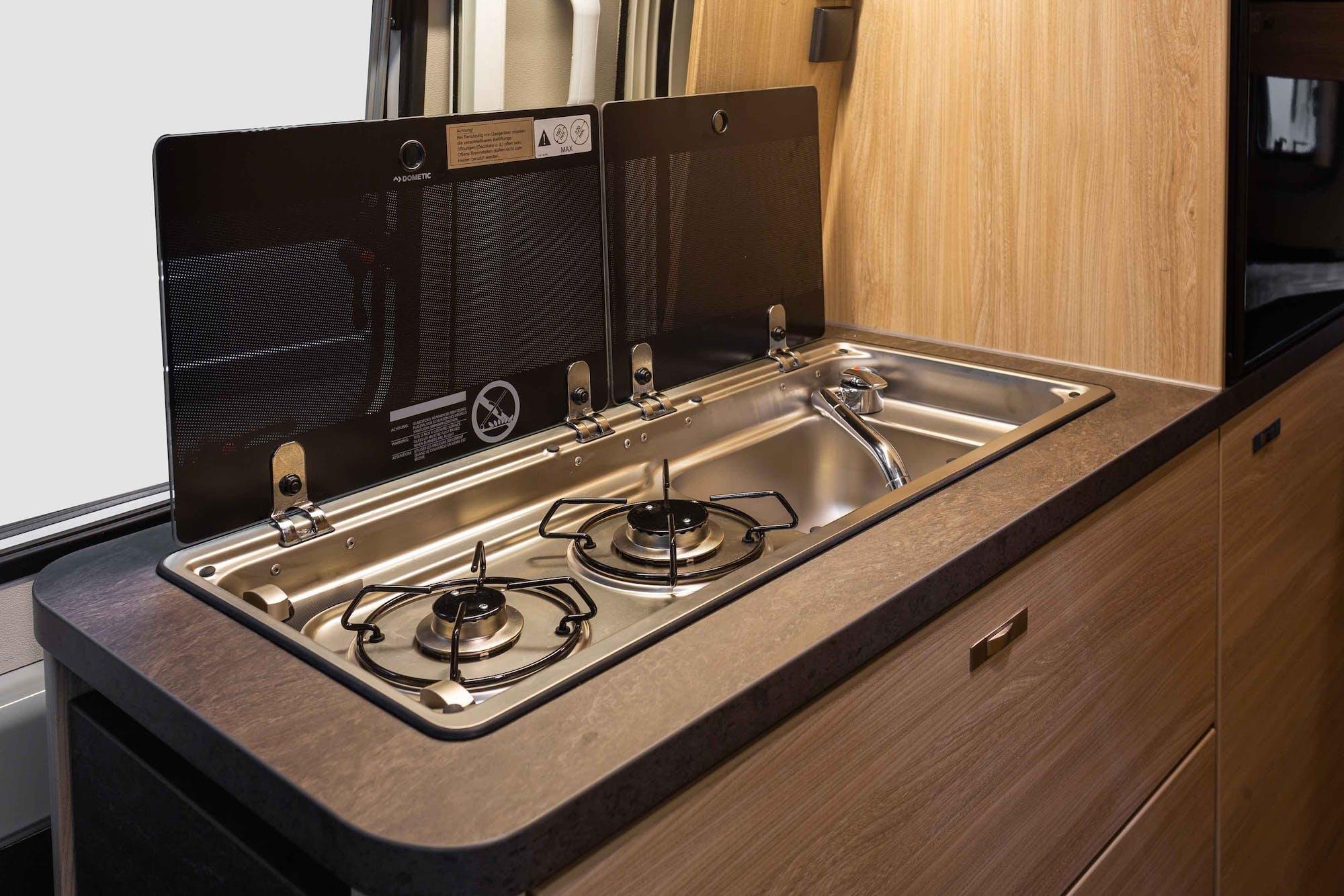 Nomad Model's kitchen