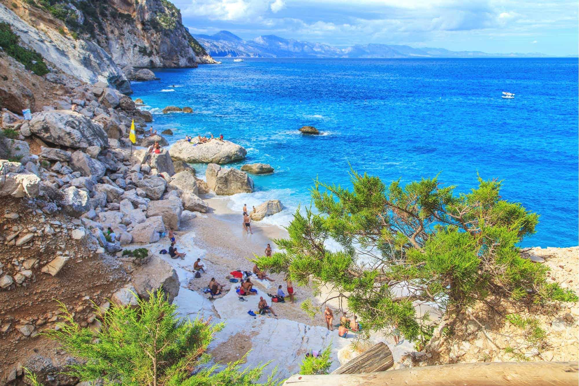 La playa Cala Goloritzè en Olbia