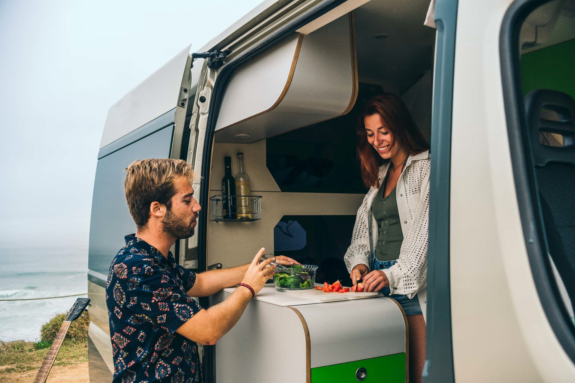 Couple cooking inside the Active Model
