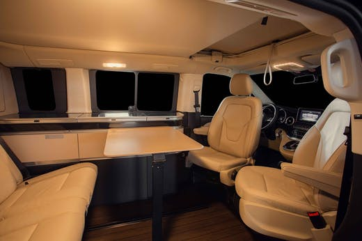 Interior seats of the Marco Polo Model