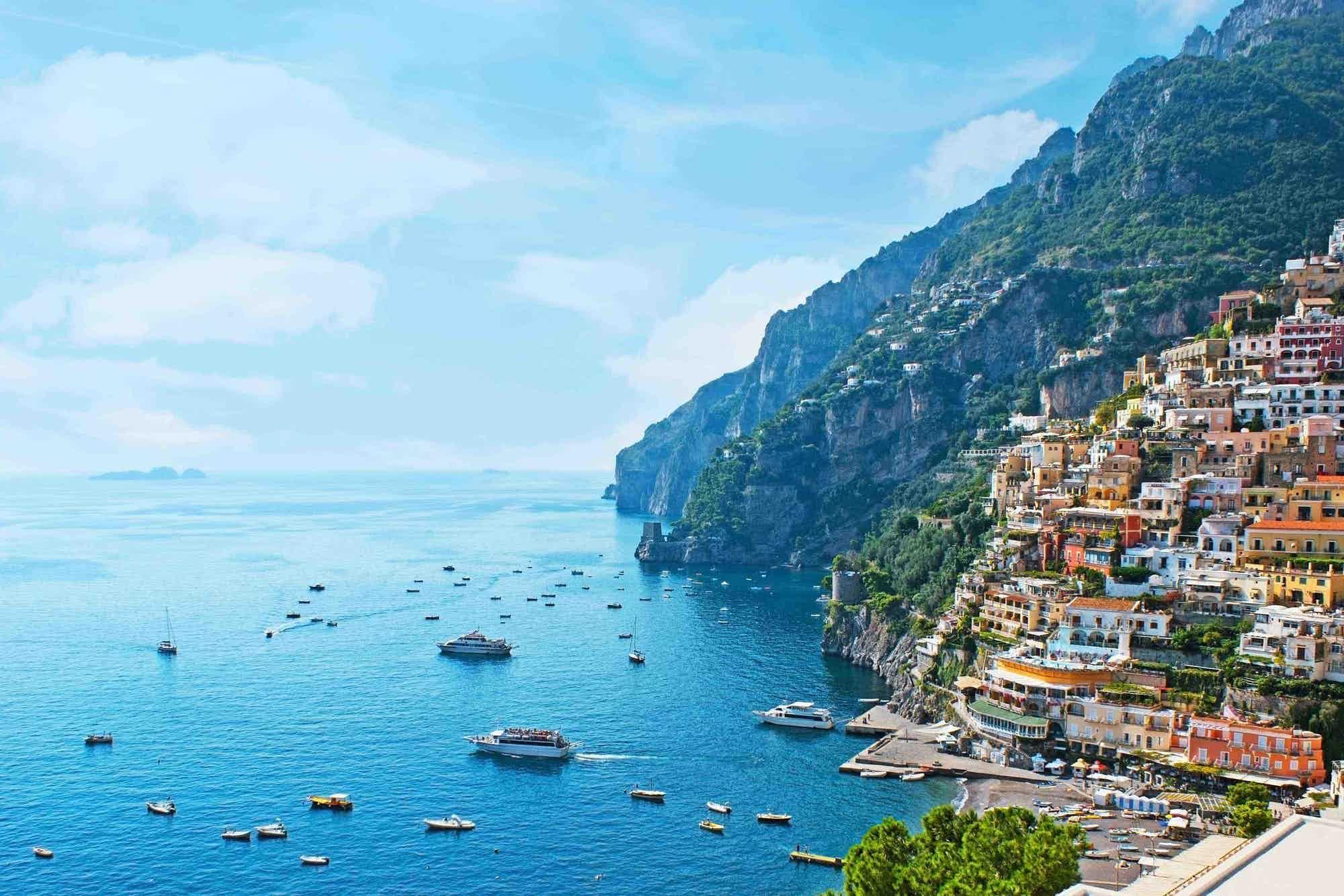 Campervan hire near Amalfi Coast for scenic vews of of seaside