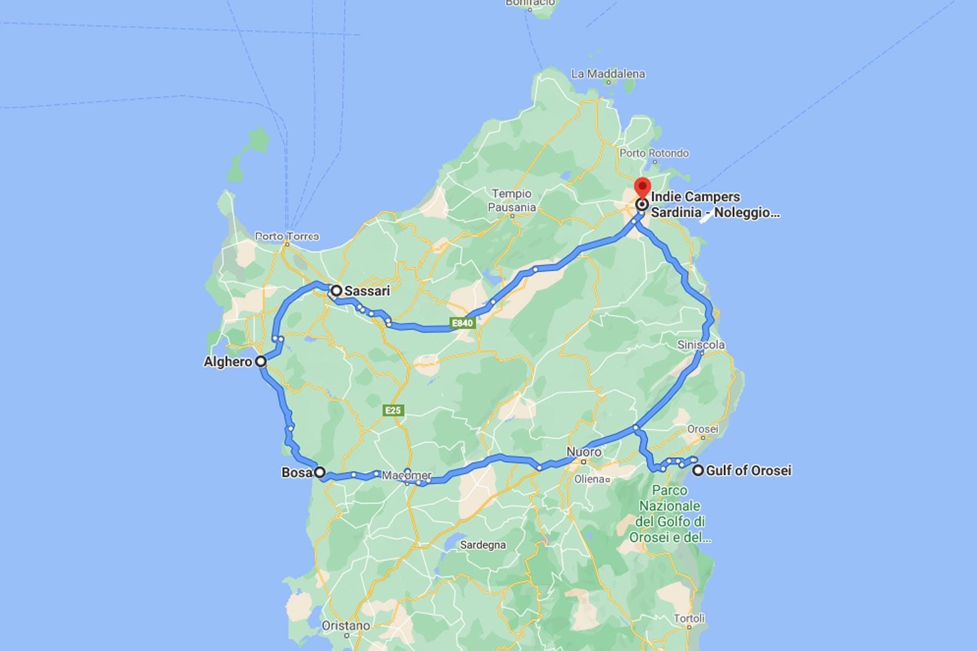 Sardinien Roadtrip von Olbia zu Stränden und Küstenstädten