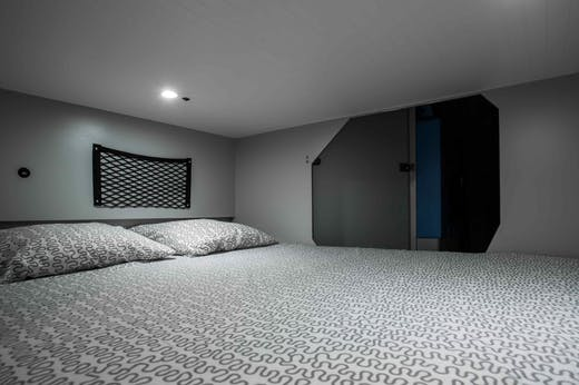 Active Model's double bed