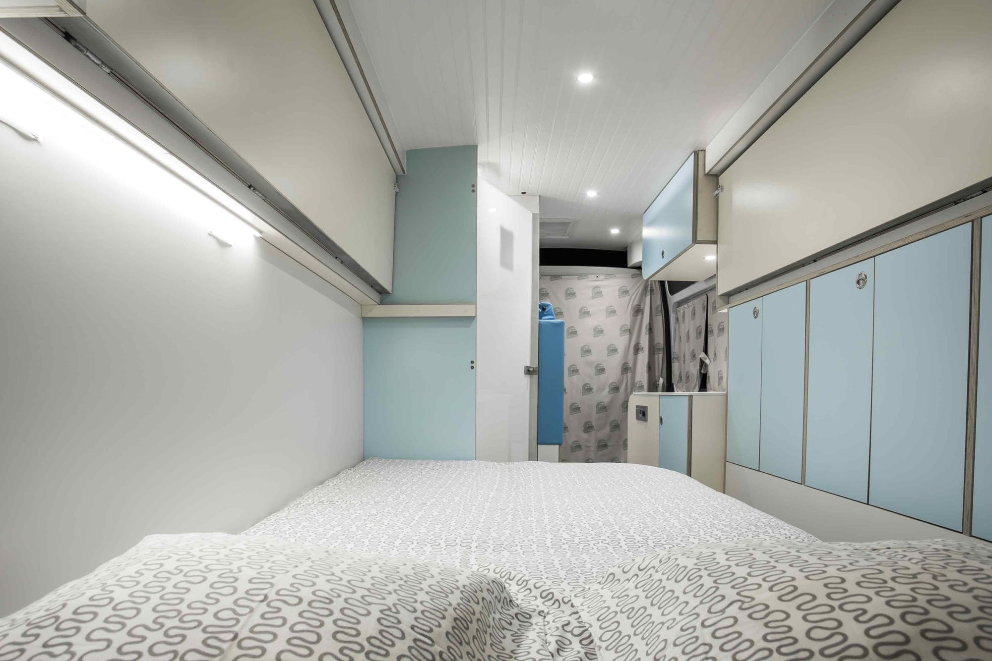 Interior view from the Motorhome Model's double bed