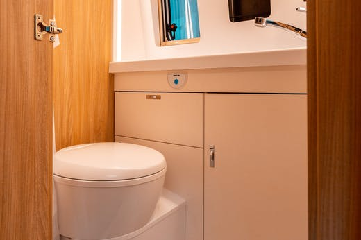 Nomad Model's bathroom with shower