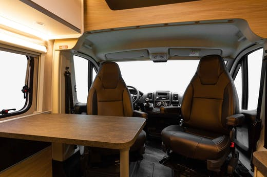 Front seats inside the Nomad Model