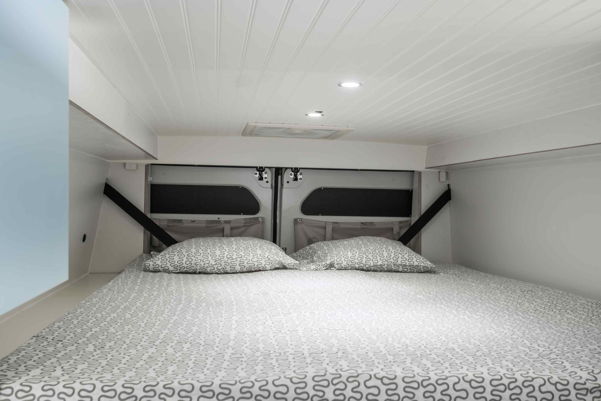 Motorhome Model's double bed