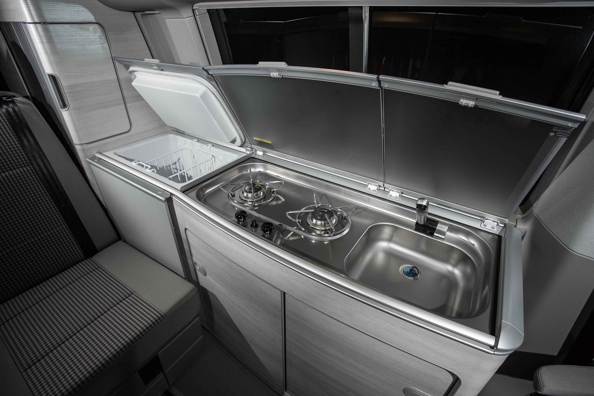 VW California Model's kitchen