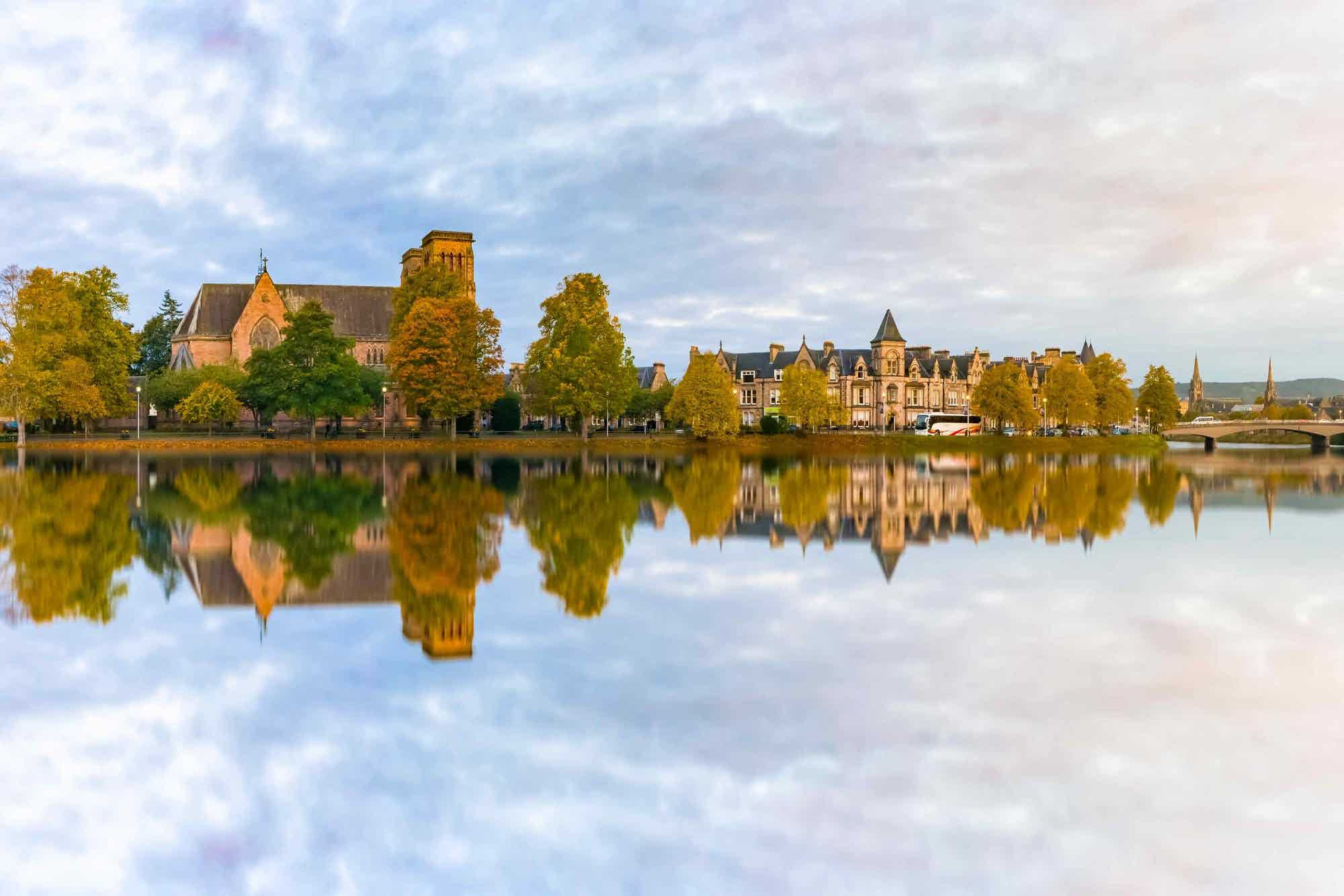 Inverness scenery mirrored in the river