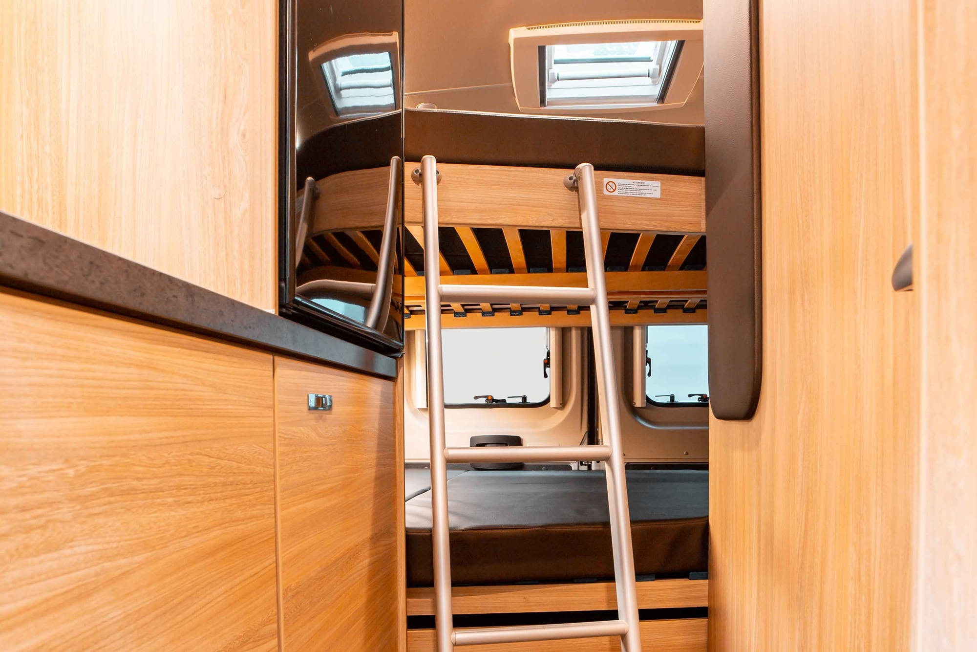 Nomad Model's two double beds