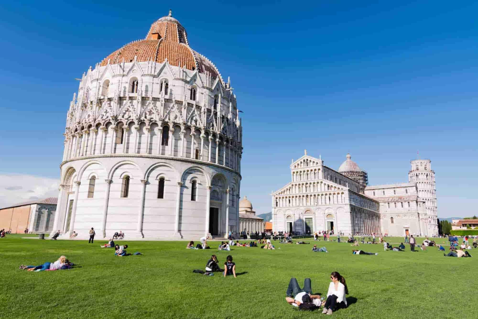 Visit Piazza dei Miracoli on a Pisa road trip