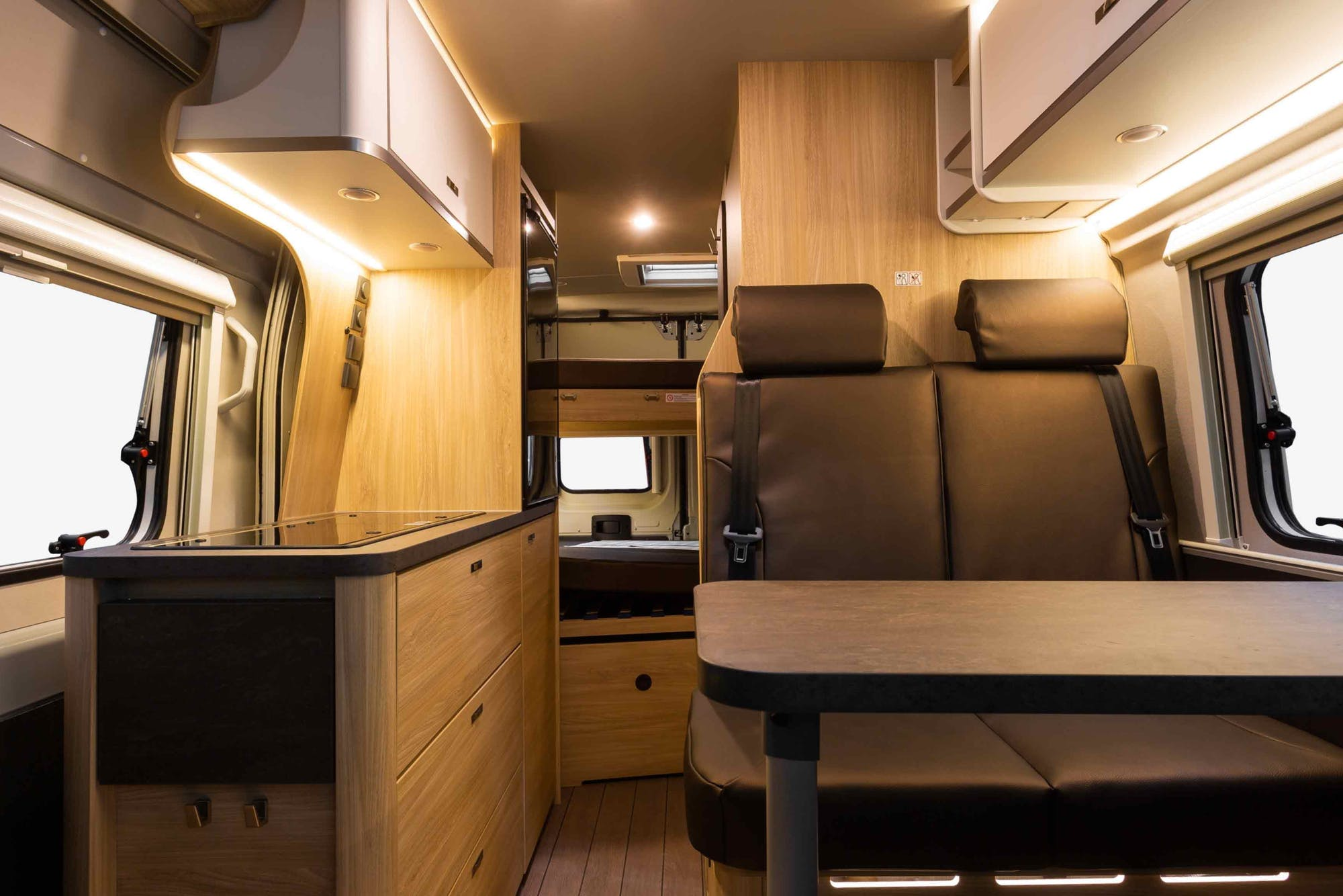 Interior of the Nomad Model with kitchen