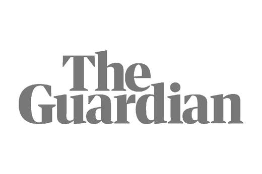 The Guardian logo in grey scale