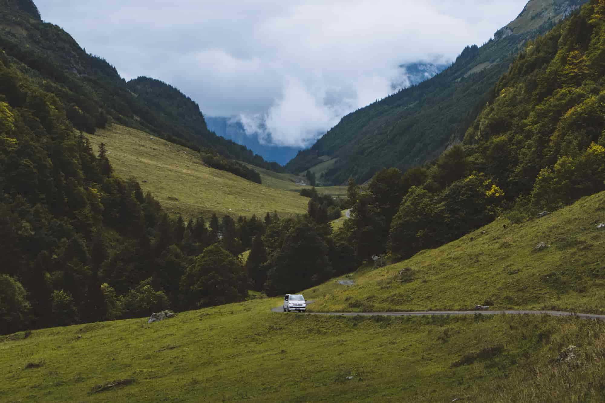 Campervan in der freien Natur