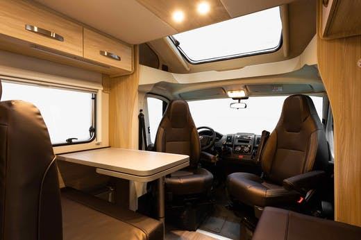 Interior view of the Atlas Model from Indie Campers