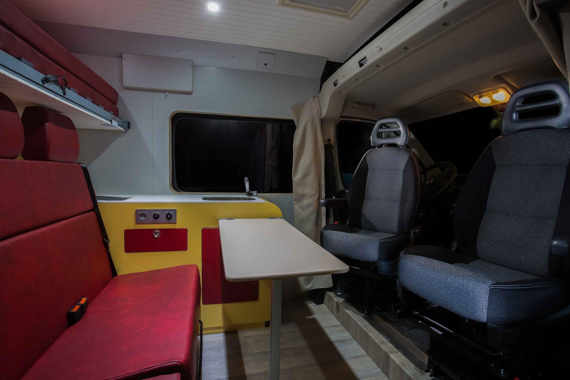 Sporty Model's interior seats