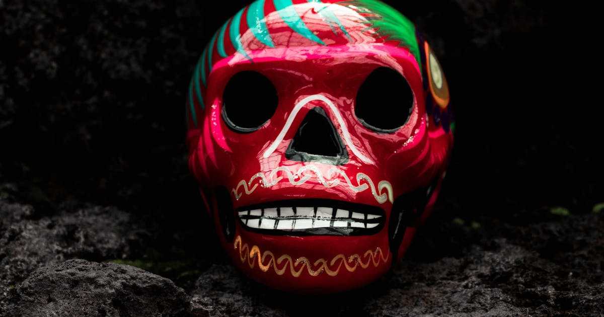 Mexican painted skull