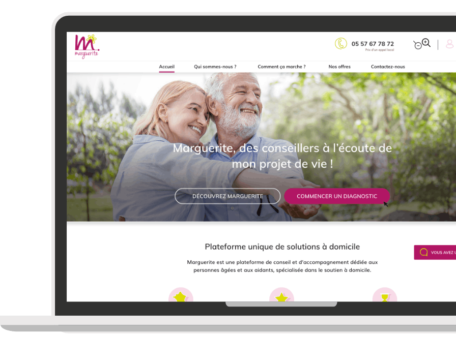 Marguerite, site web e-commerce, responsive design