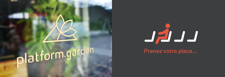 Platform.Garden, création de l'identité visuelle de la marque