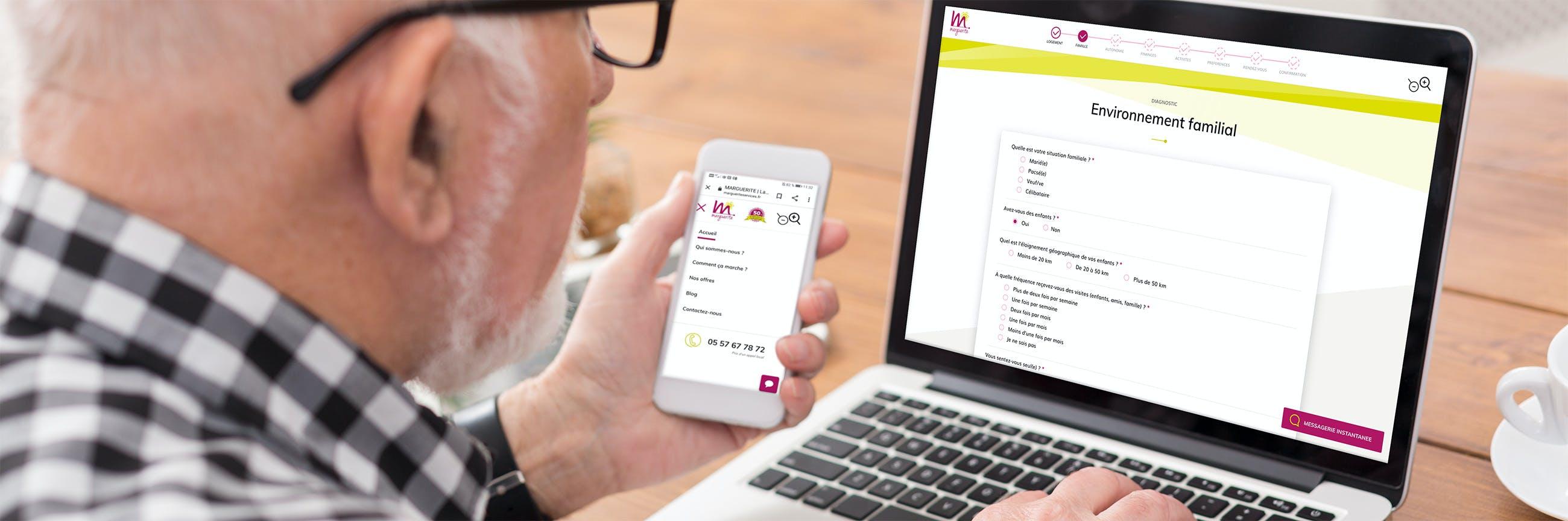 Marguerite Services, site web responsive