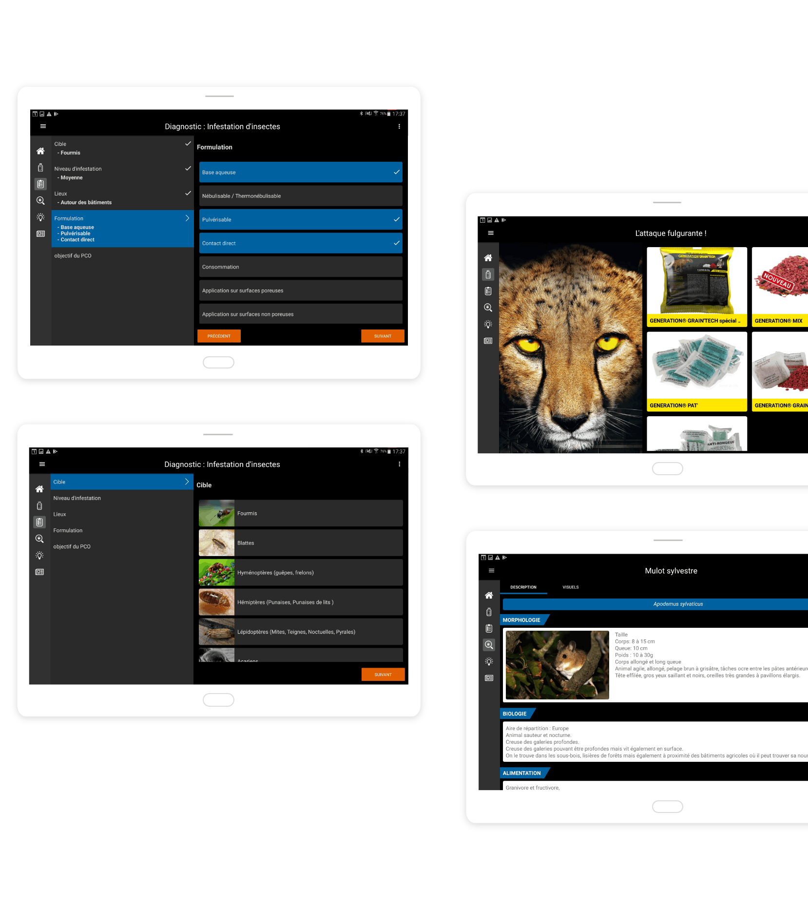 Liphatech, applications mobiles tablette