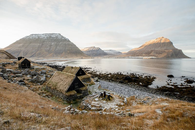 Icelandic turfhouses at Ósvör, Bolungarvík