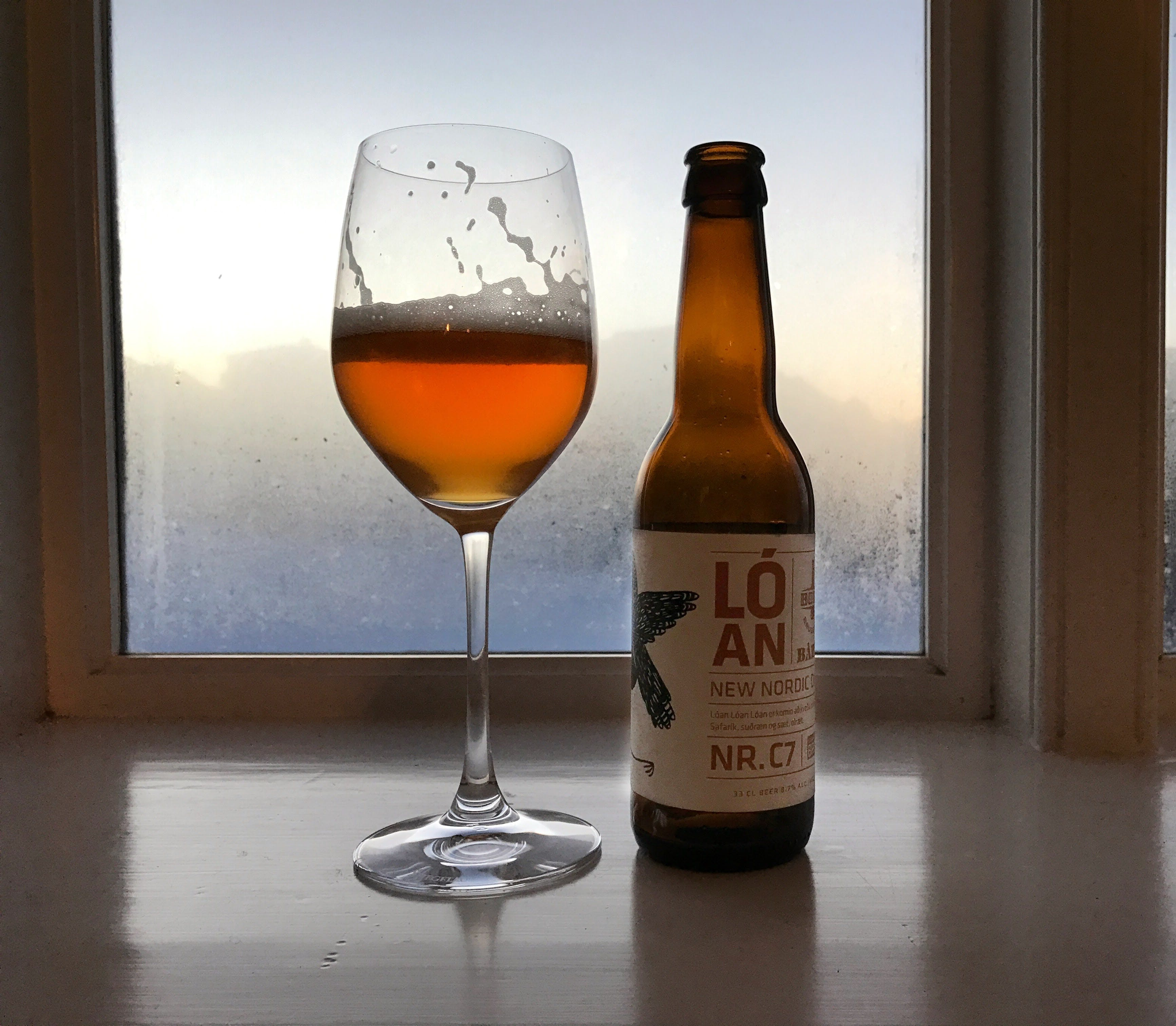 Refreshingly cold Nordic Saison on a cold winter's day.
